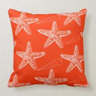 Tango Orange Seashell Pillow throwpillow
