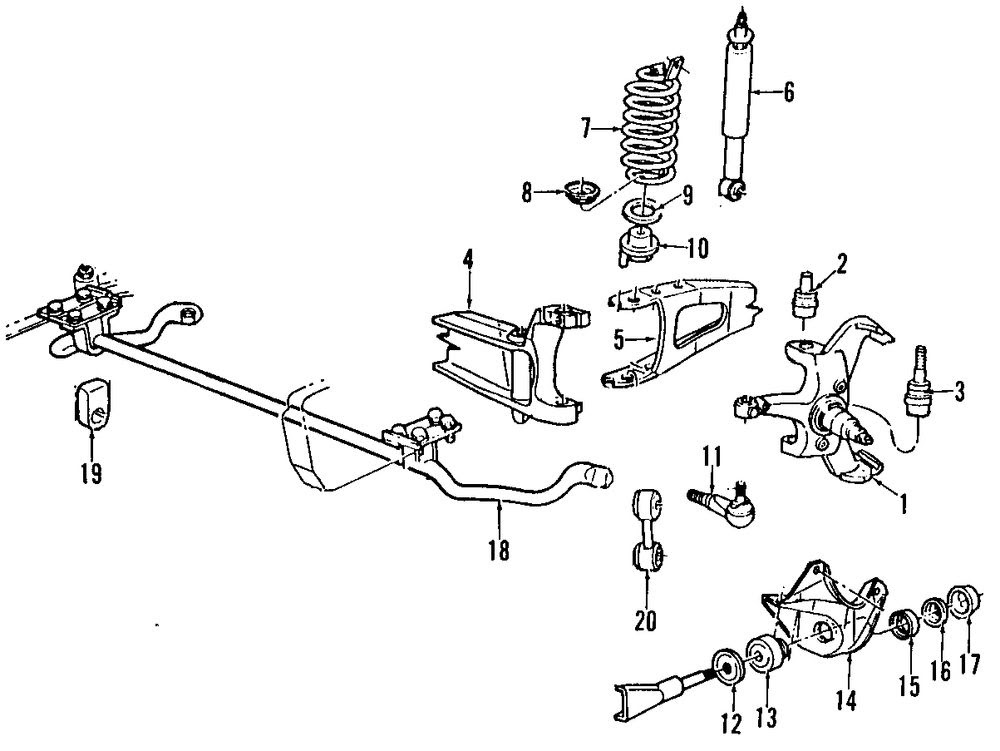 2002 ford explorer front suspension diagram