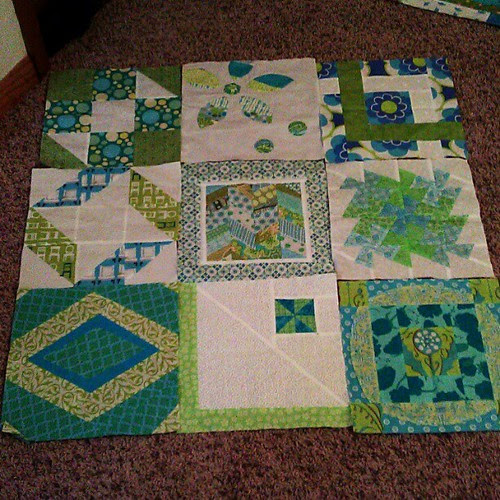 Orphan blocks from Melinda = baby quilt for Quilting for a Cause + 100 Quilts for Kids. Love these colors.