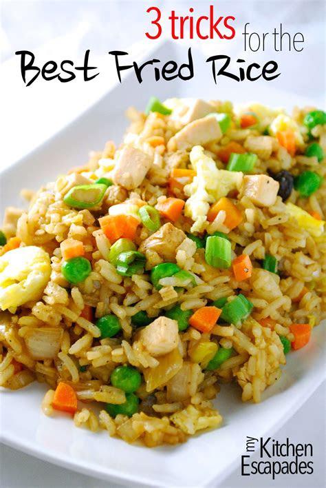 chicken fried rice recipe  tricks