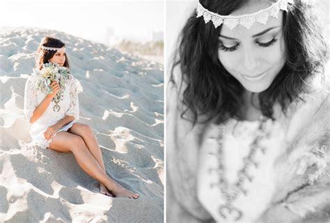 End of Summer Bohemian Shoot on the Beach   Green Wedding