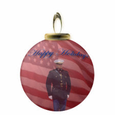 U.S. Marine Ornament photosculpture
