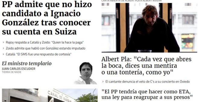 Portada de Público el 26/04/2017