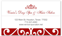 BCS-1115 - salon business card