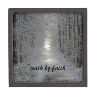 Walk by Faith Prayer Box Premium Jewelry Box