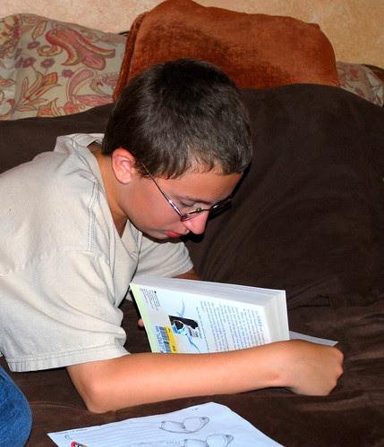 Evan reading1