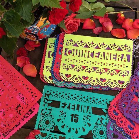 pretty papel picado Quinceañera banners #fiesta #