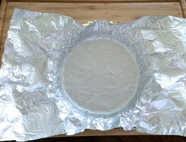 Frozen Pie Shell Lined with Foil