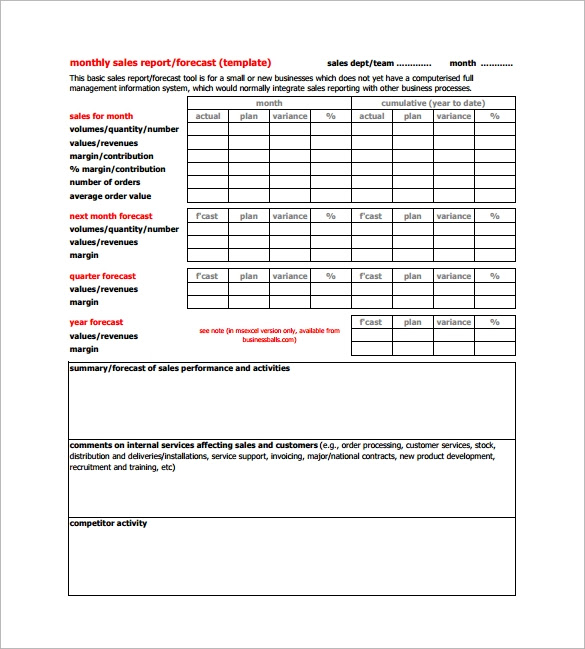 Daily Sales Report Format For Sales Executive Pdf | Daily Agenda ...