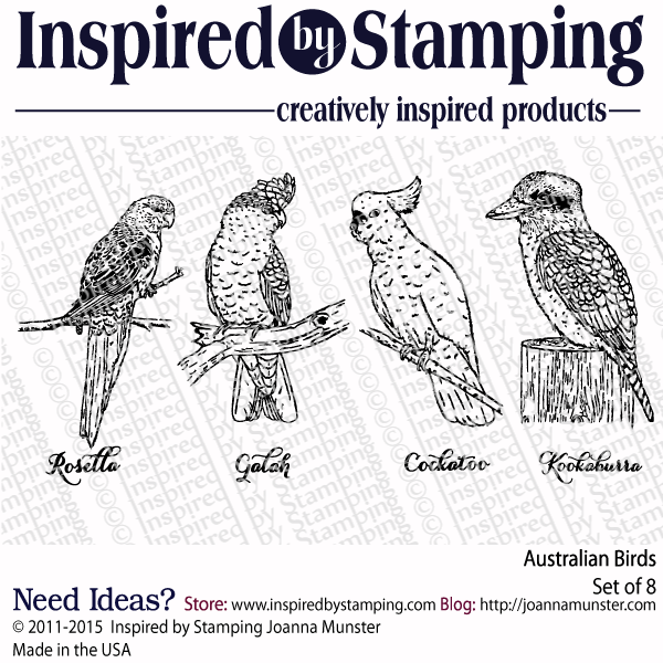 Inspired by Stamping Australian Birds stamp set