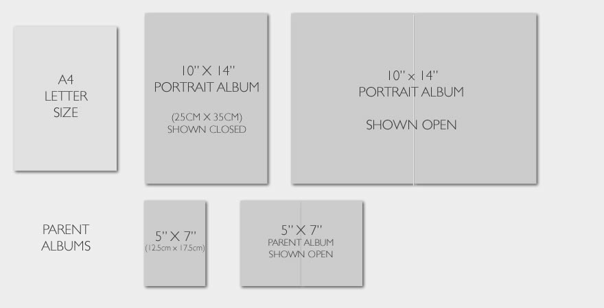 Wedding Album Sizes For Our Collections The Wedding Album Boutique