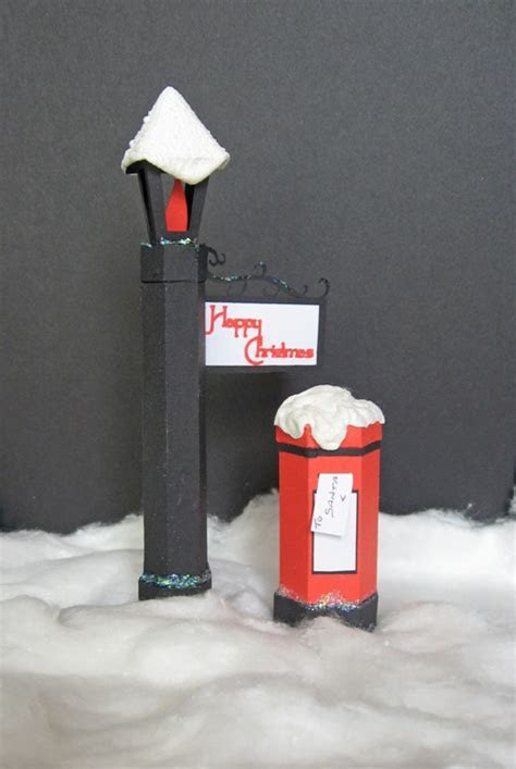 Christmas Post Box and Street Lamp Templates
