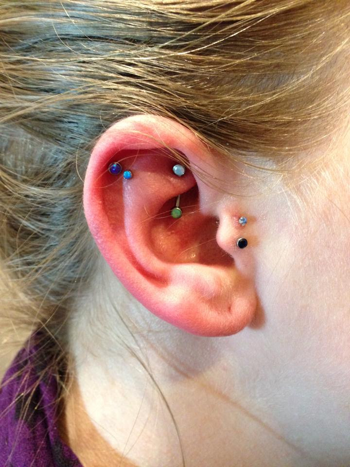9 And 10 For My Ears Double Helixflat Done By Owen At Chameleon