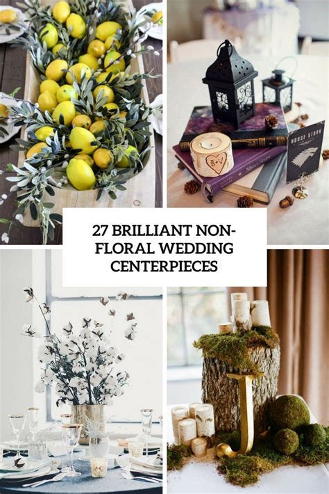 27 Brilliant Wedding Centerpieces Without Flowers