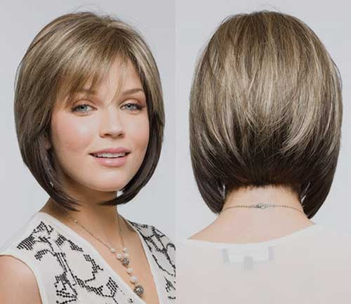 14. Chin Length Angled Inverted Bob Haircut and Back View | Haircuts