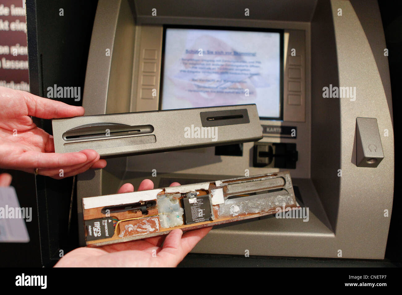 Skimming Credit Card Fraud, theft of Bank and Credit Card Stock Photo, Royalty Free Image ...