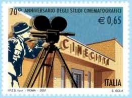 cinecitta, timbres, rome, rome en images, italie