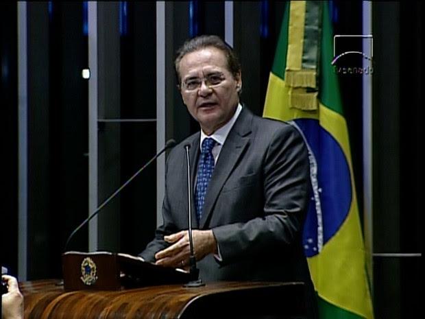 Renan Calheiros é reeleito (Foto: GloboNews)