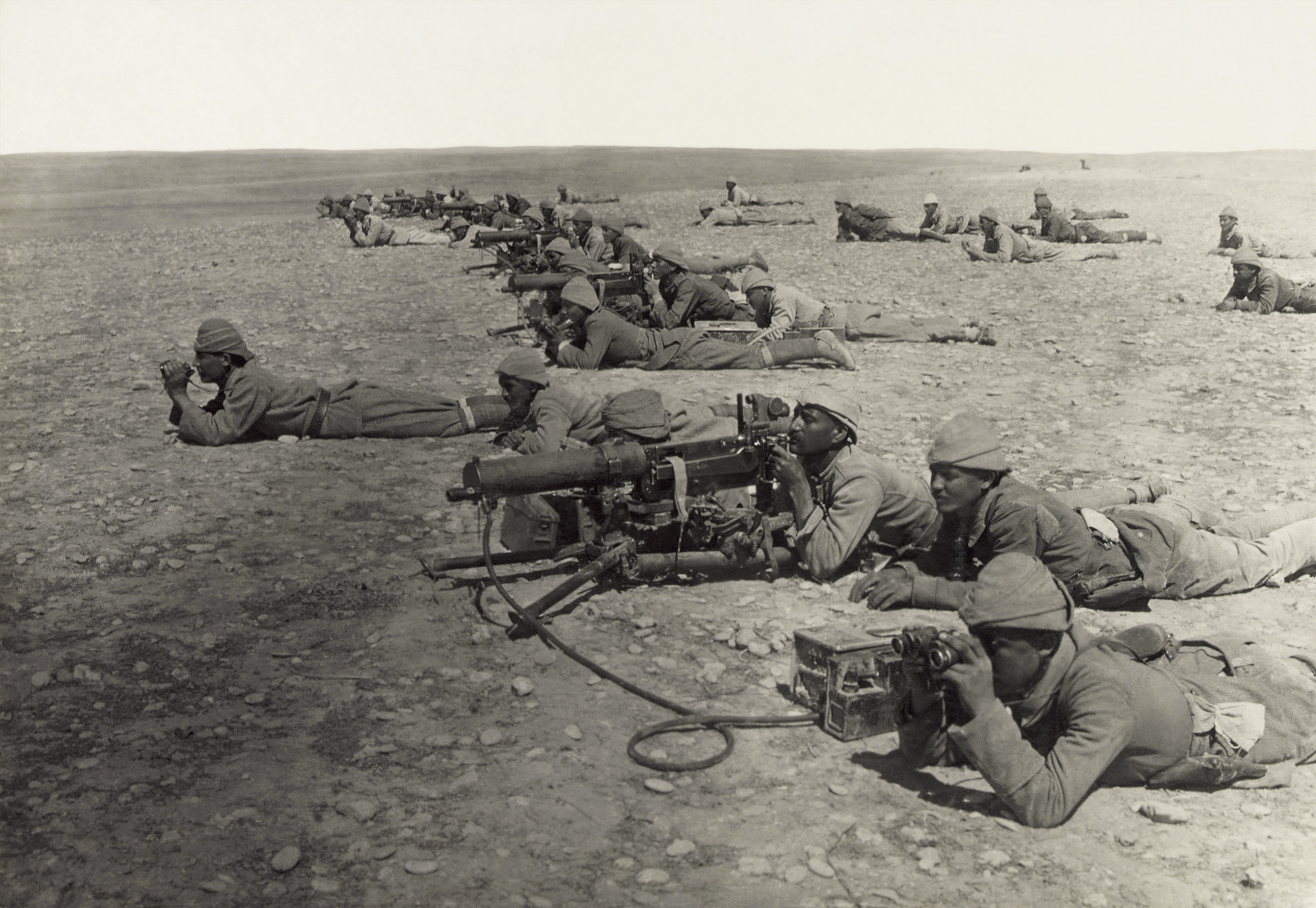Turkish machine gunners, Battle of Gaza, April 1917