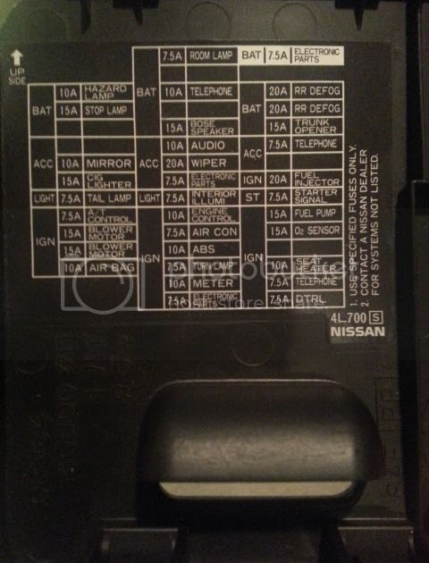 1996 Nissan Maxima Fuse Box Diagram