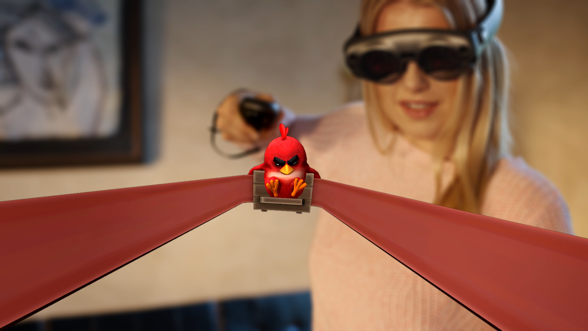 Angry Birds: First Person Slingshot AR game