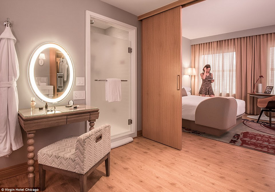 All rooms are two-room 'chambers,' with a separate dressing room and bedroom area. The compartment divider can slide across, if people require privacy when ordering room service