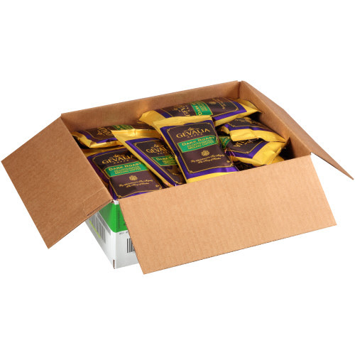 GEVALIA Dark Roast Decaf Coffee Bag, 2.5 oz. Bag (Pack of 24)   Kraft Heinz Foodservice