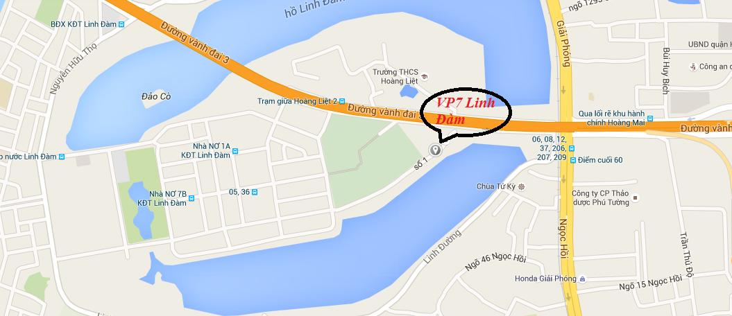 Vị trí chung cư VP7 Linh Đàm