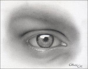 drawing human eyes