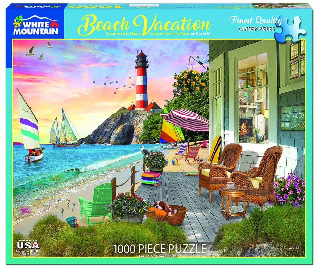 Beach Vacation - 1000 Piece Jigsaw Puzzle – White Mountain ...