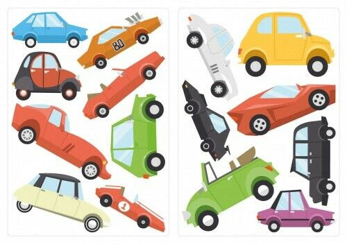 Wandtattoo Autos In Vielen Farben Set Kinderzimmer Deko