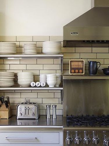 Little Green Notebook White Subway Tile With Dark Grout