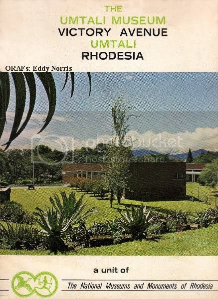 Cover 1, Umtali Museum booklet