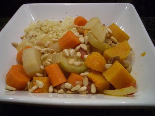 golden root vegetable couscous