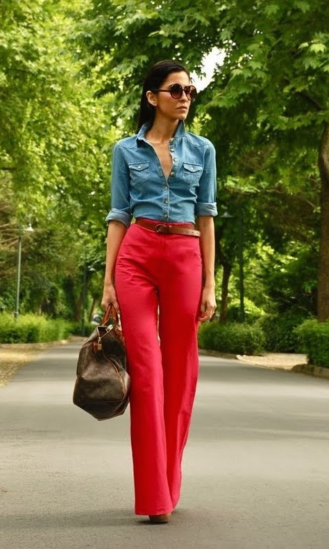 what to wear with red pants 3 ways to wear