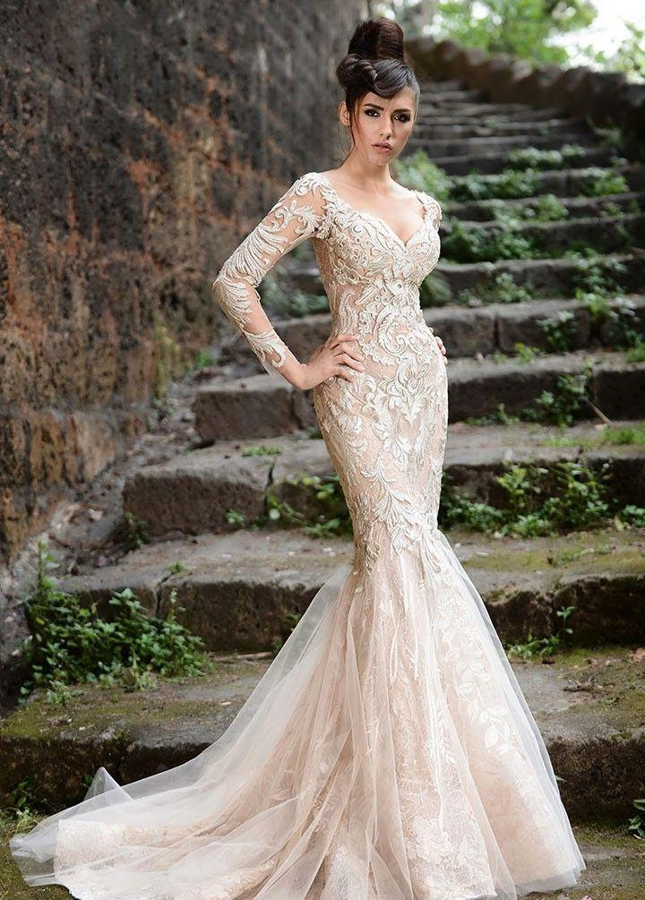 Long Sleeved & 3/4 Length Sleeve Wedding Gown Inspiration ...