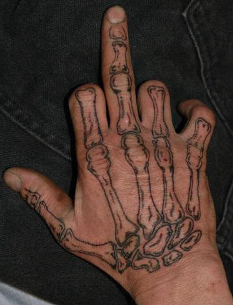 Bones Hand Tattoo Design Tattoos Book 65000 Tattoos Designs