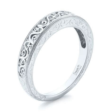 Custom Hand Engraved Filigree Wedding Band #103341