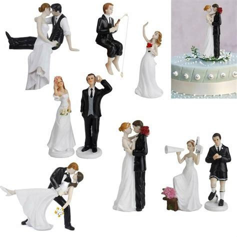 BRIDE & GROOM FIGURE WEDDING PARTY CAKE TOPPERS HAND