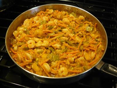 Shrimp Curry 5 - add the shrimp!