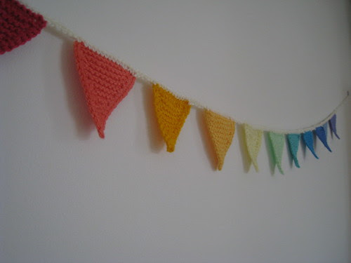 Mini knitted bunting