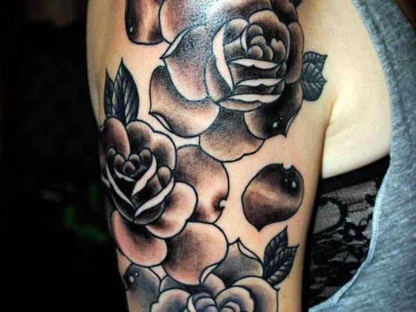 Half Sleeve Rose Tattoos For Men Cool Tattoos Bonbaden