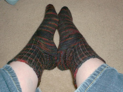 Mountain Colors Bearfoot mohair wool brown socks