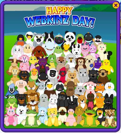 Webkinz Day card