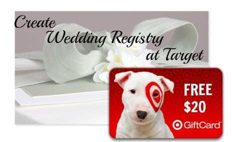 Target: $20 Target Giftcard with Wedding Registry