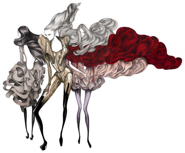 Le illustrazioni fashion di Laura Laine