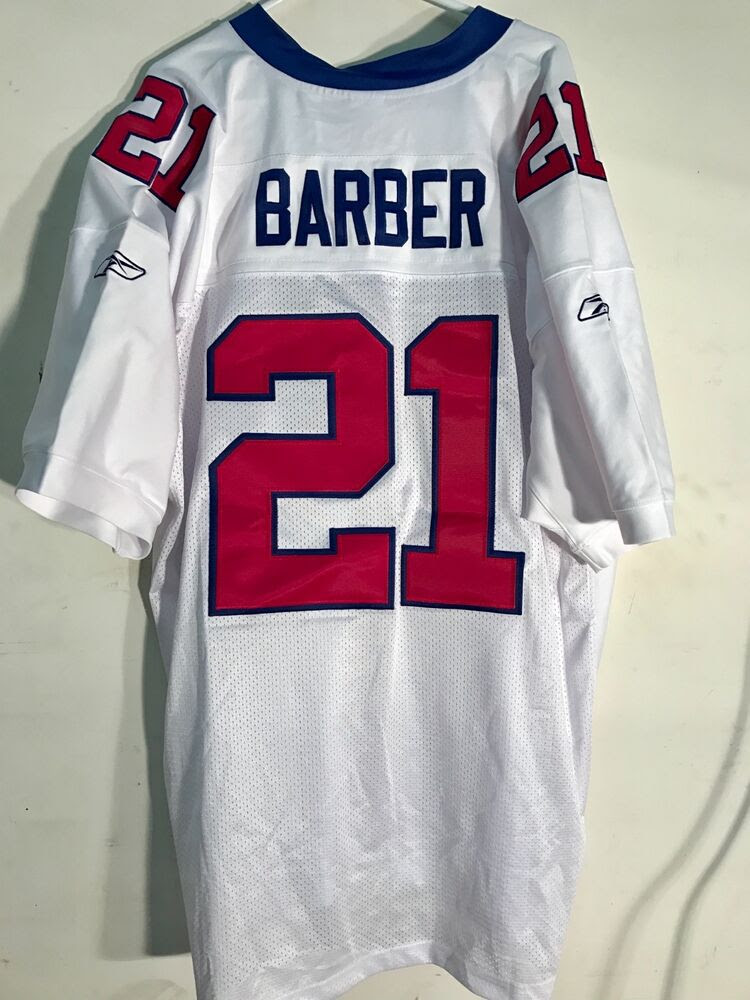 Reebok Authentic NFL Jersey NEW YORK Giants Tiki Barber White sz 56  eBay