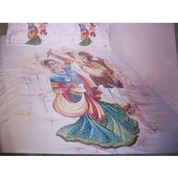 Hand Painted Bed Sheets Hand Painted Bed Sheets Manufacturer From