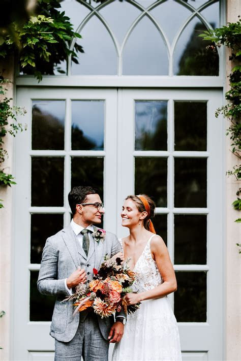 Coral autumnal wedding styling from the Lost Orangery