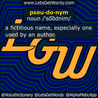pseudonym 11/29/2017 GFX Definition